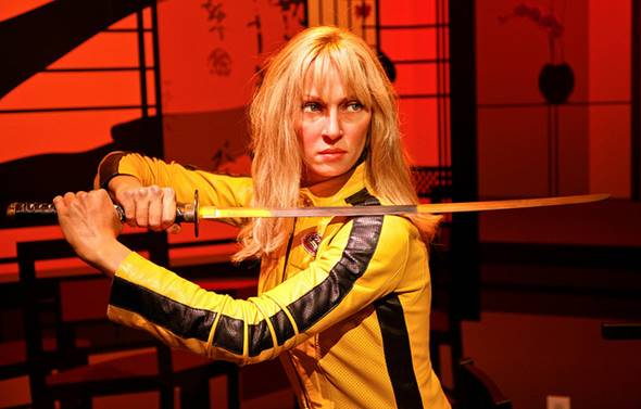 Beatrix Kiddo (Uma Thurman) – Kill Bill, Vol. 1 e Vol. 2